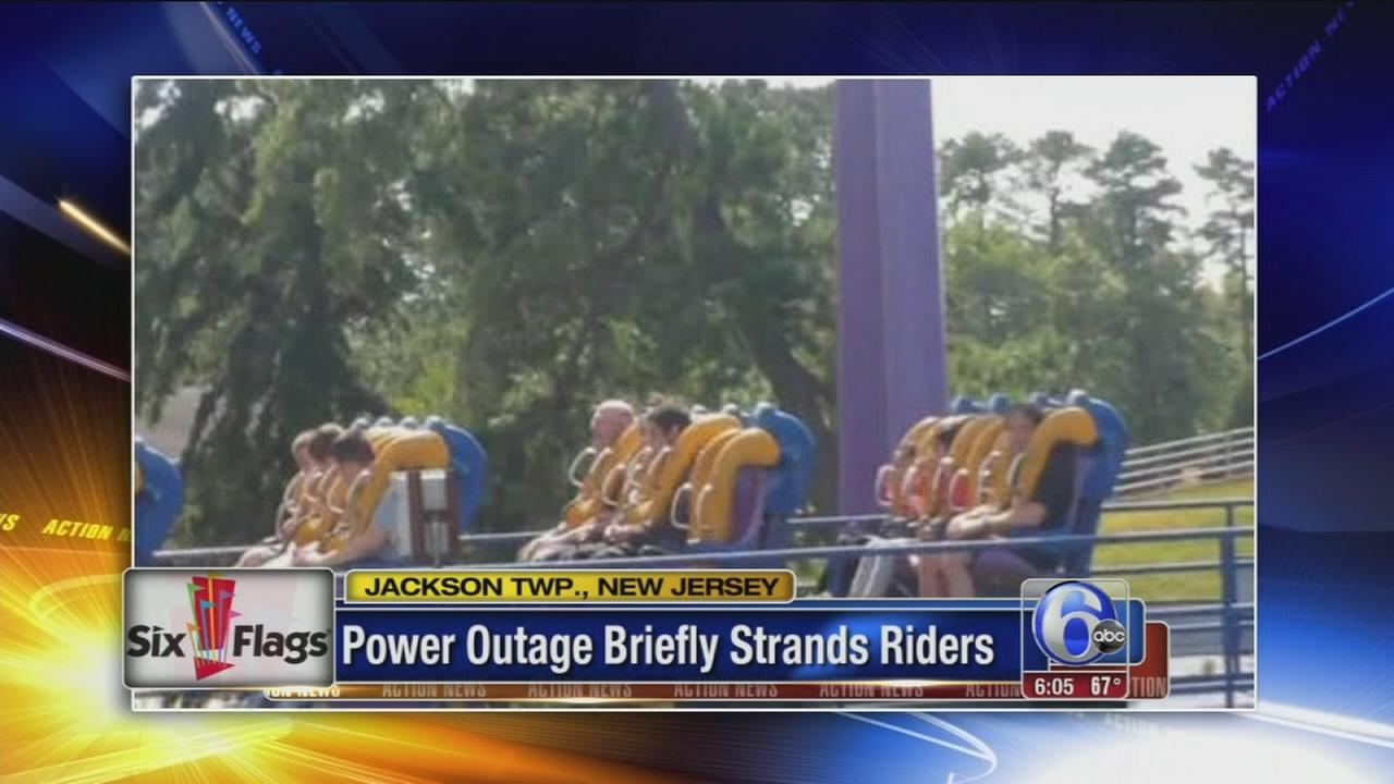 VIDEO: Power outage at Six Flags in New Jersey