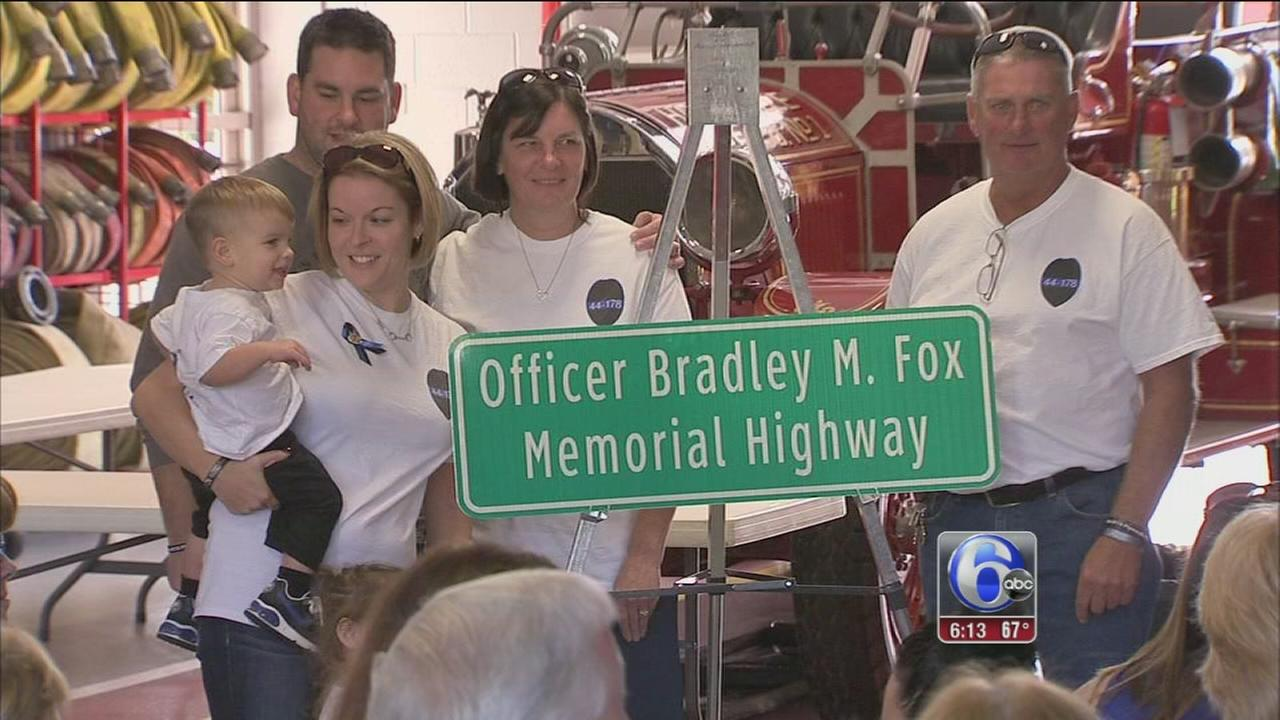 VIDEO: Warminster highway renamed for slain Officer Brad Fox