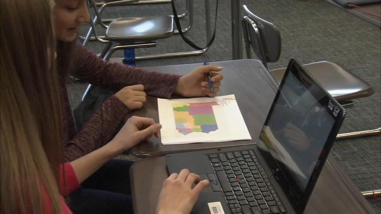 Middle-school students draw fair PA Congressional District map