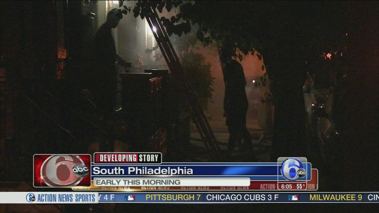VIDEO: Fire damages home in South Philadelphia