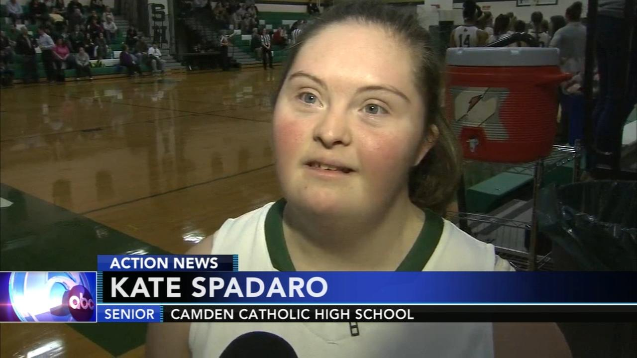 Girl with Down syndrome starter for basketball team