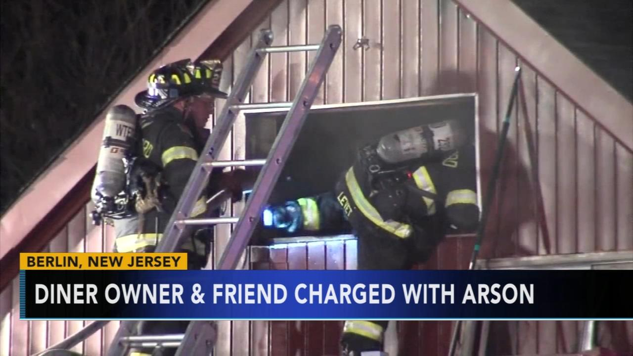 Police: Owner charged in suspicious diner fire in Berlin