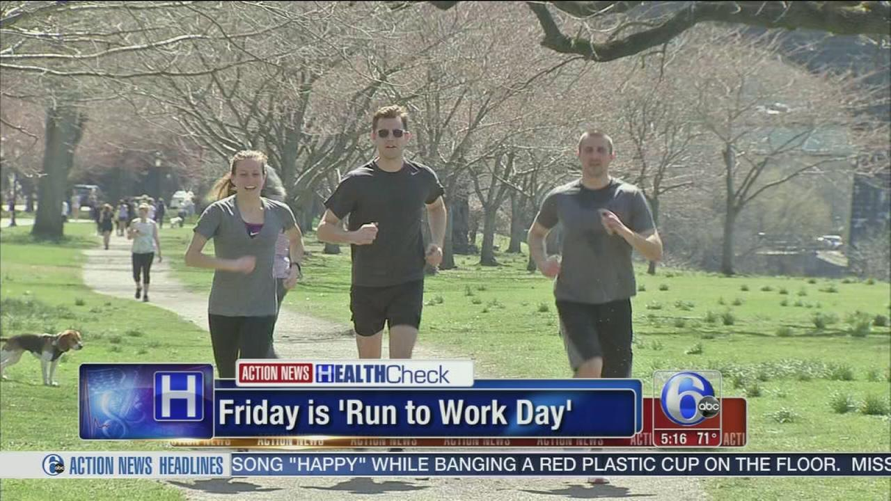 VIDEO: Friday is Run to Work Day