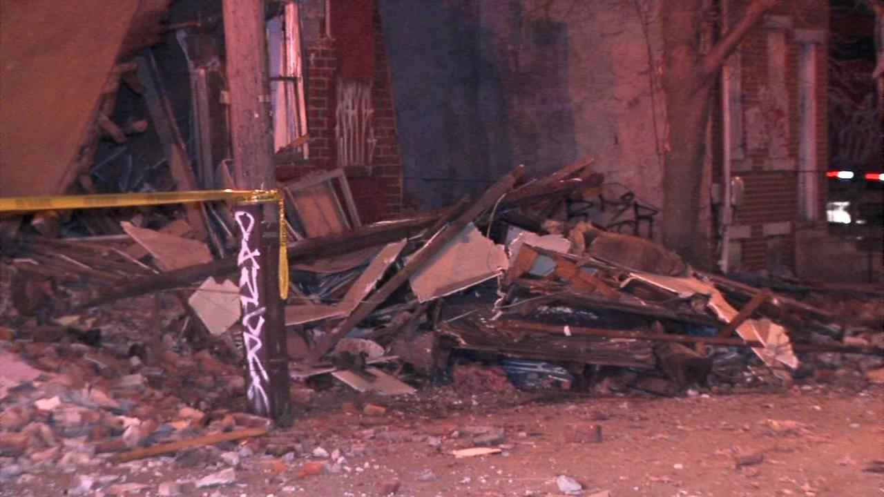 Building collapses in citys Brewerytown section