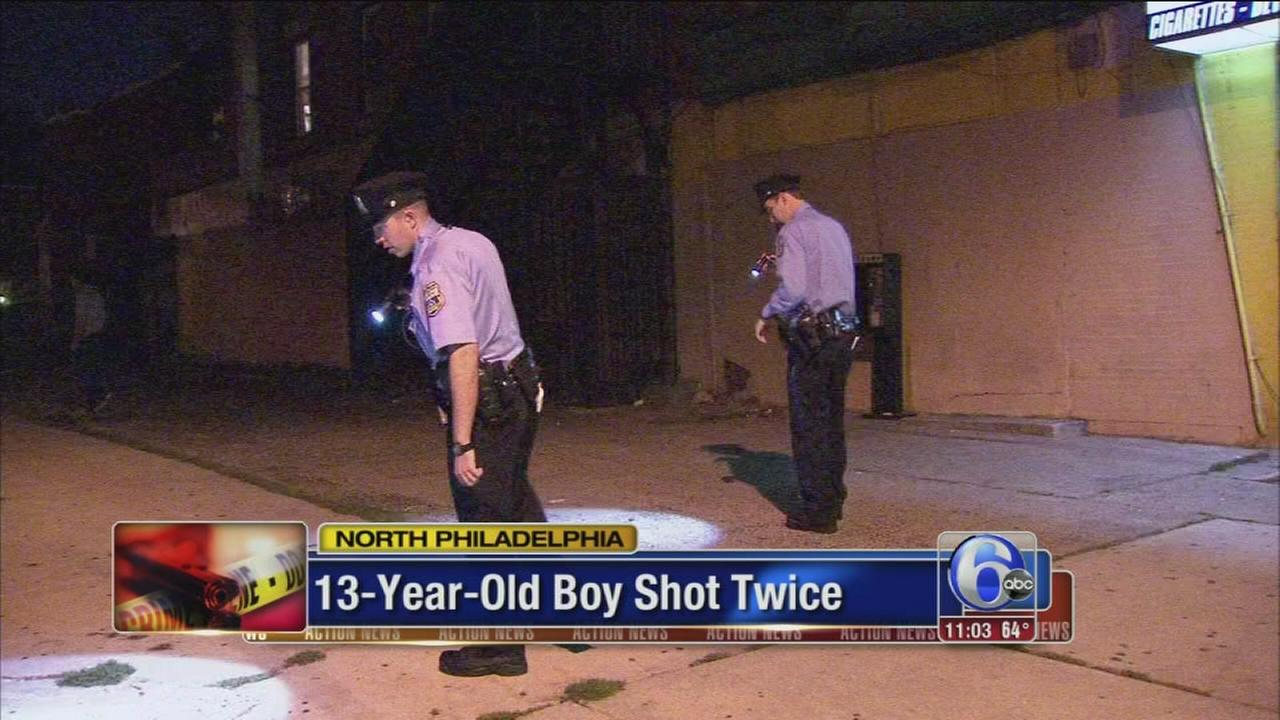 VIDEO: 13-year-old shot twice