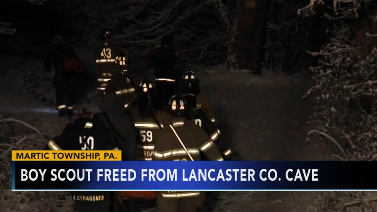 Boy Scout freed from Lancaster County cave