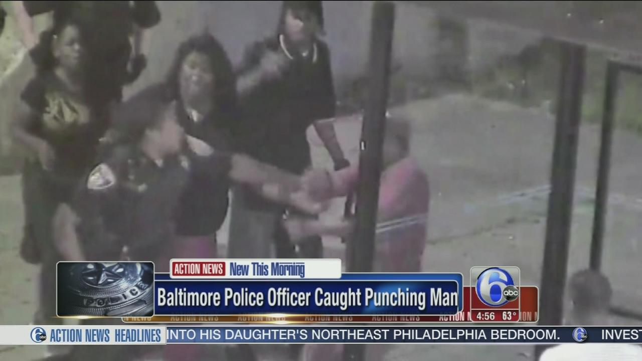 VIDEO: Baltimore police officer caught punching man
