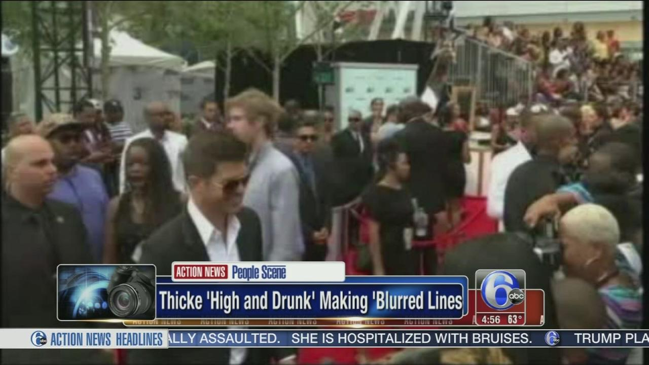 VIDEO: Thicke says high and drunk making Blurred Lines