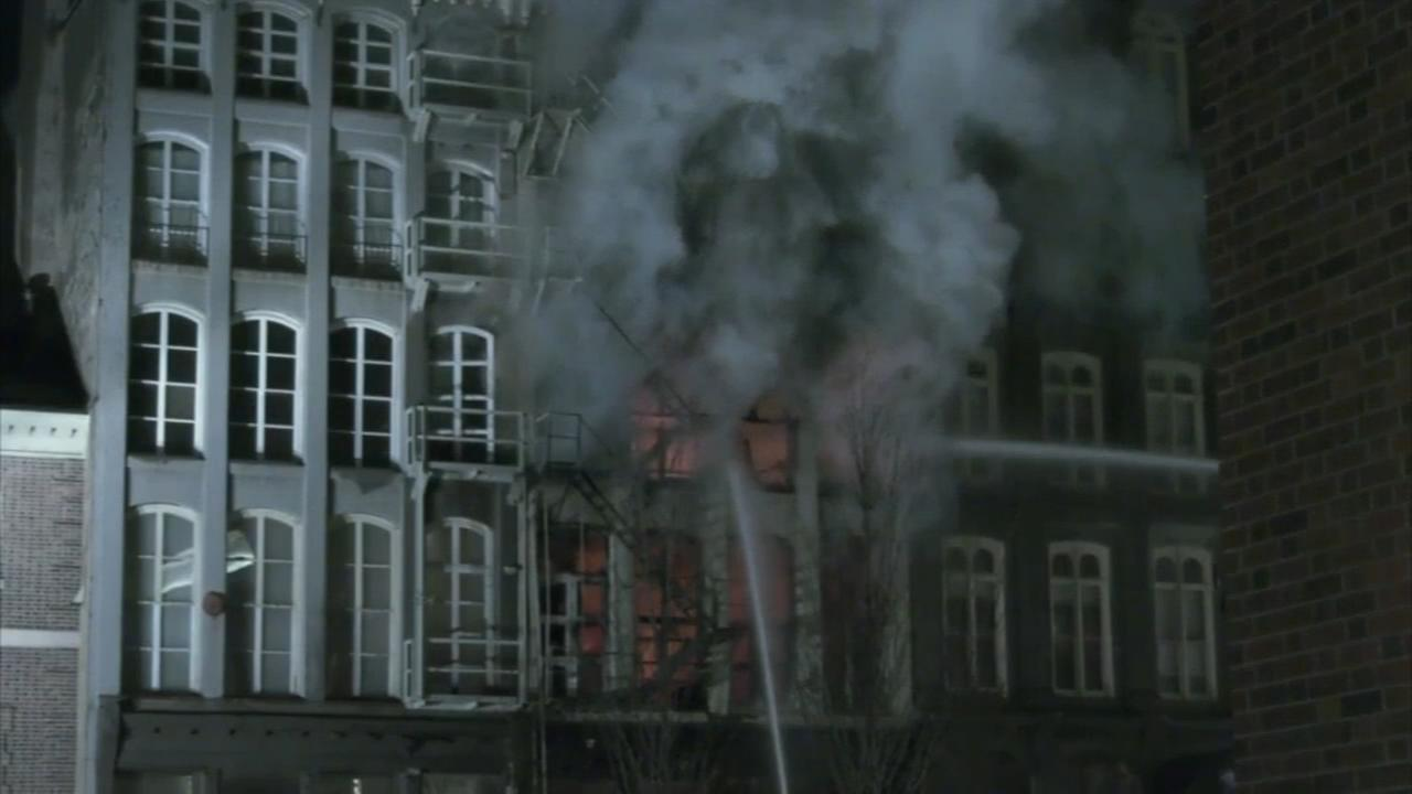 Fire crews continue to fight hot spots in Old City fire