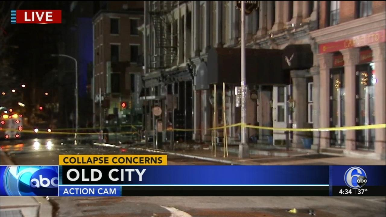 Collapse concerns after Old City fire