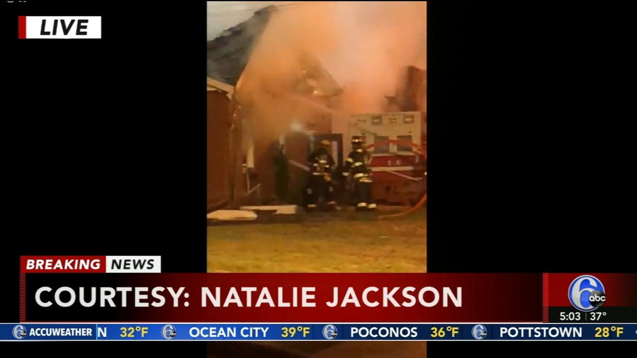 Fire breaks out at NJ ambulance company