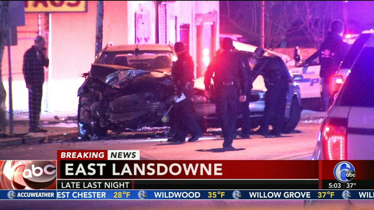 Police chase leads to crash in East Lansdowne