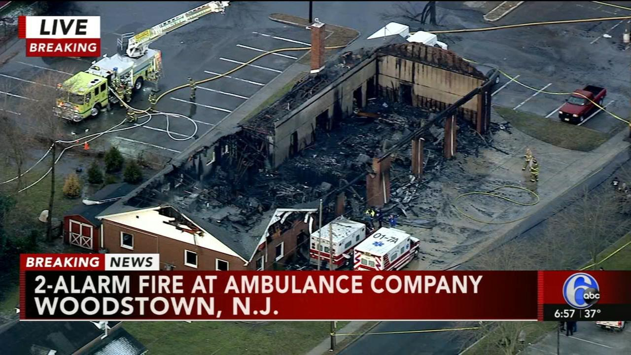 Fire destroys ambulance company in Woodstown, N.J.