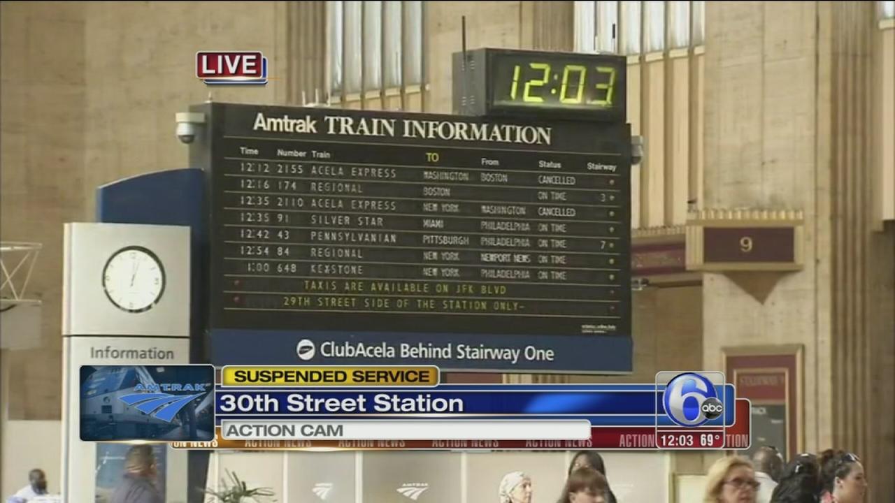 VIDEO: Amtrak service suspended on NE Corridor