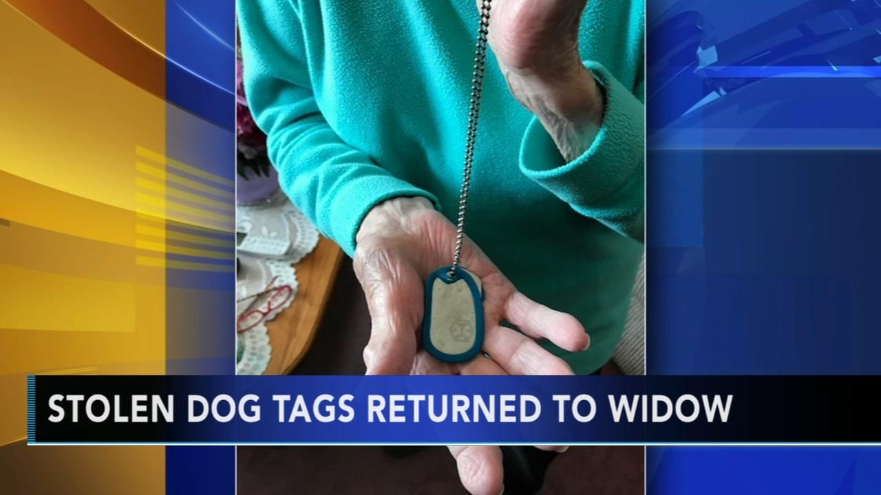 Stolen dog tags returned to widow