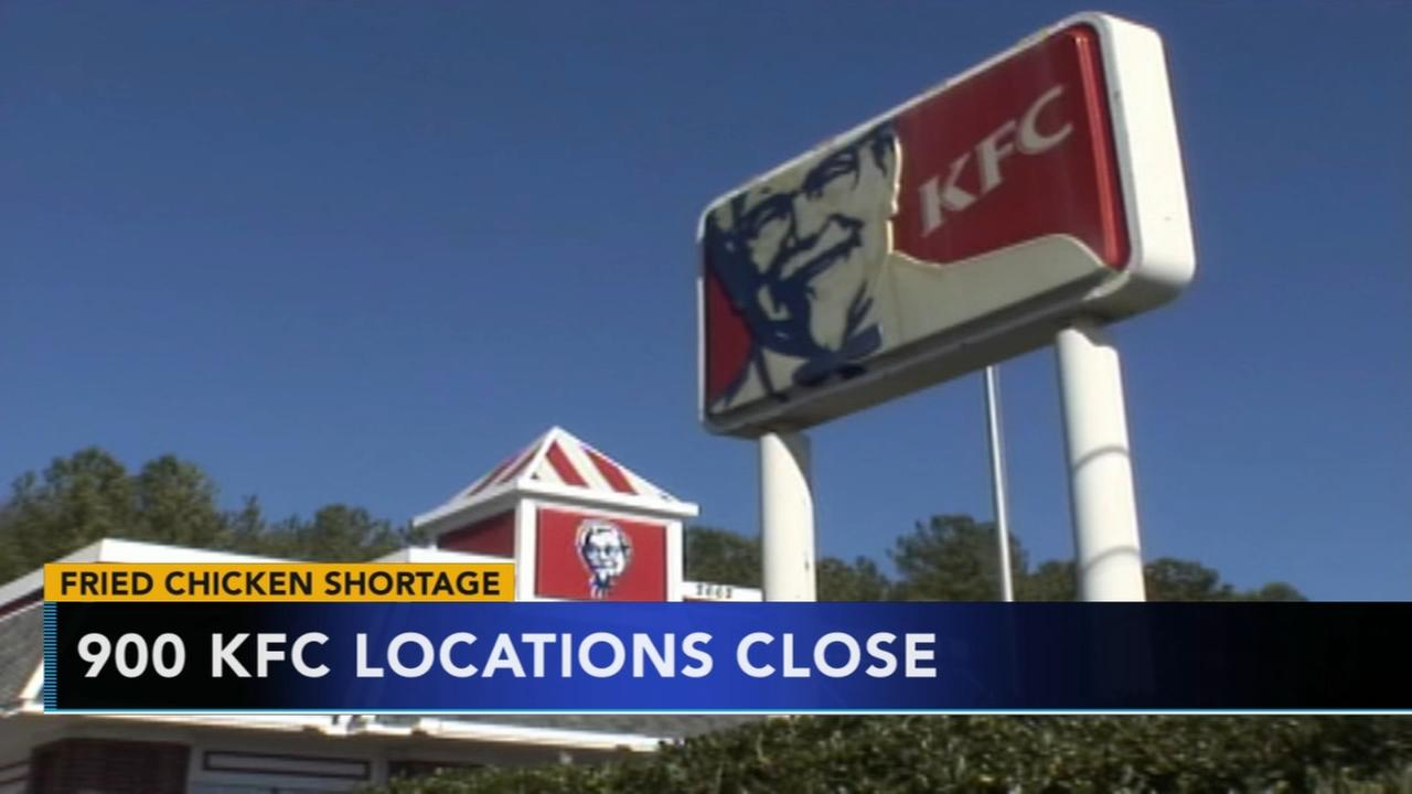 KFC closings 900 locations because of no chicken