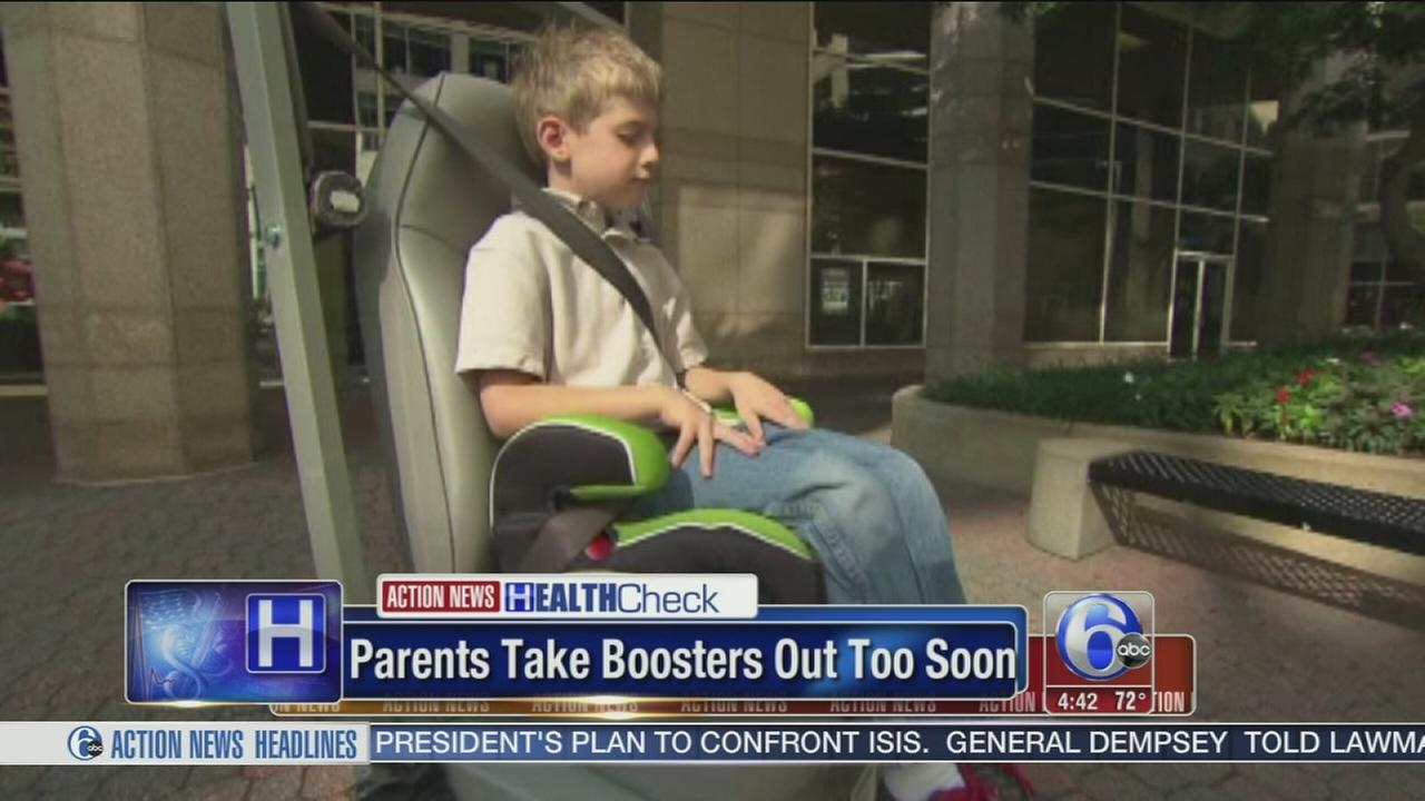 VIDEO: Study says booster seats taken out too soon