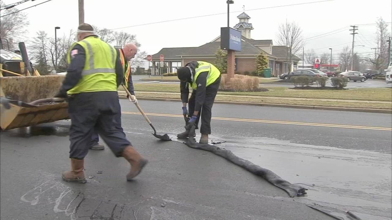 Liquid asphalt damages vehicles