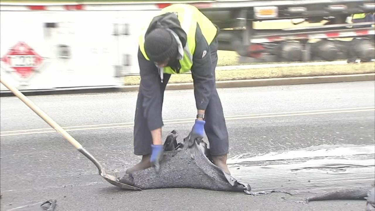 Vehicles damaged after asphalt spills on NJ highways
