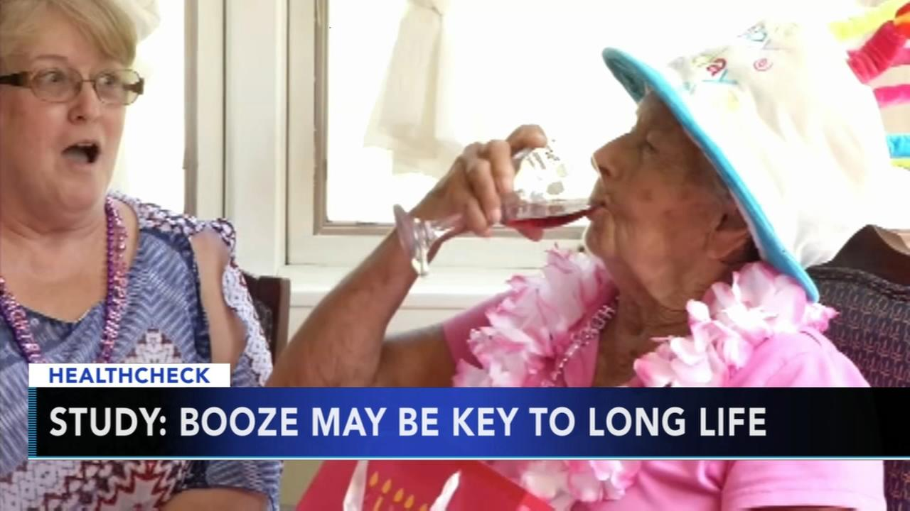 Study: Booze may be key to long life