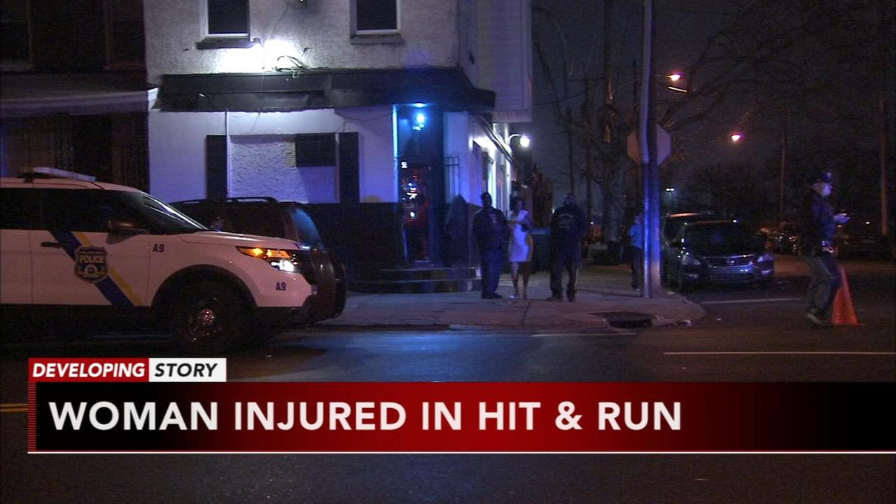 Woman injured in hit and run
