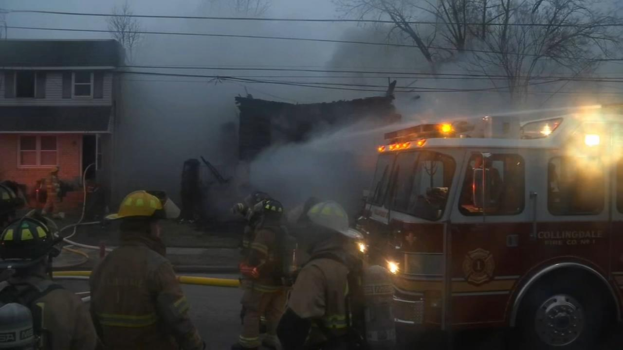 Fire destroys home in Collingdale
