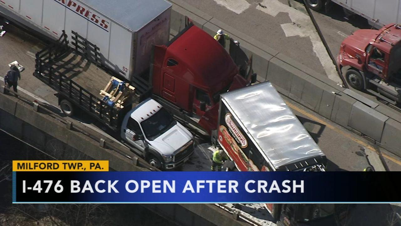 NE Extension reopens after serious crash in Bucks Co.