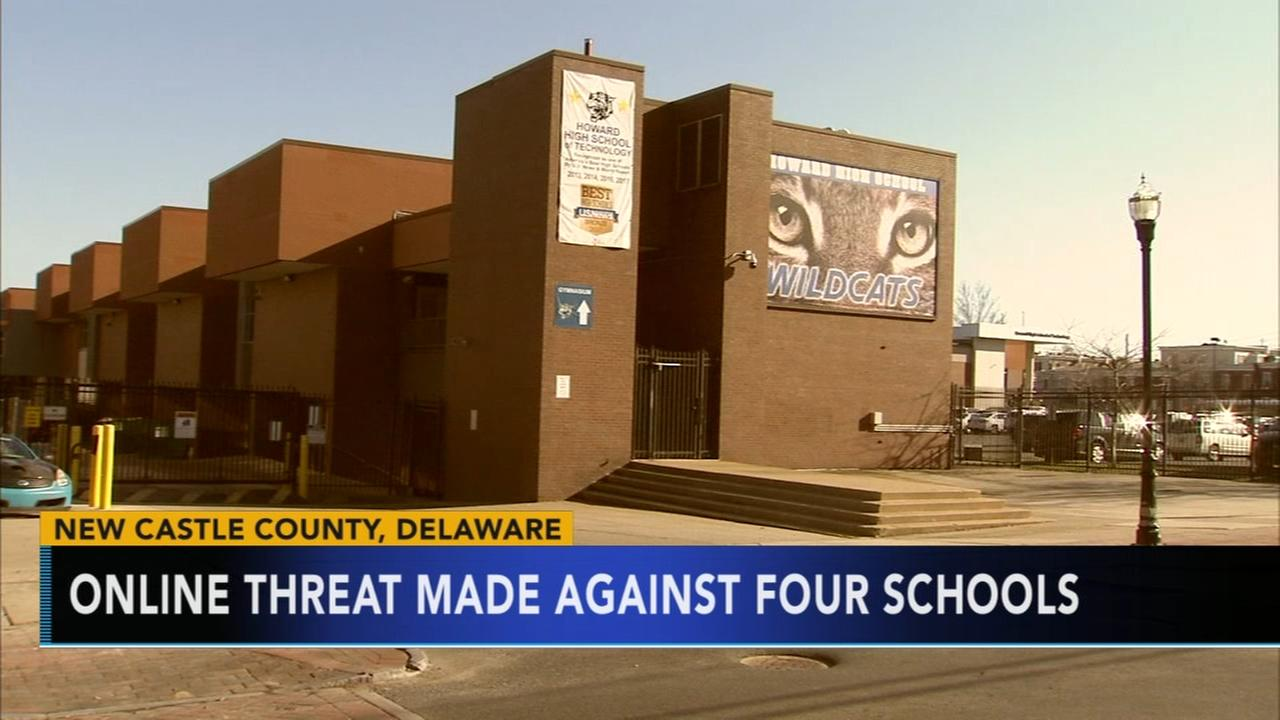 Online threat made against 4 Delaware schools