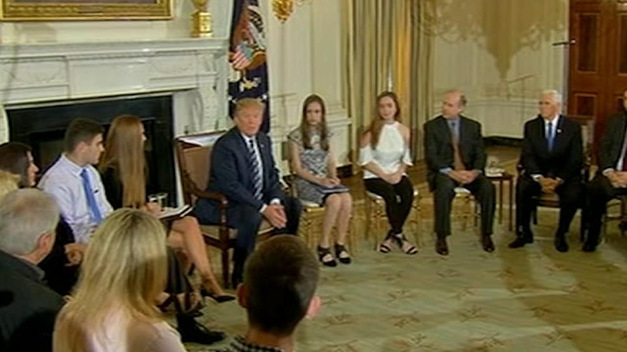 Trump hosts school shooting survivors at White House
