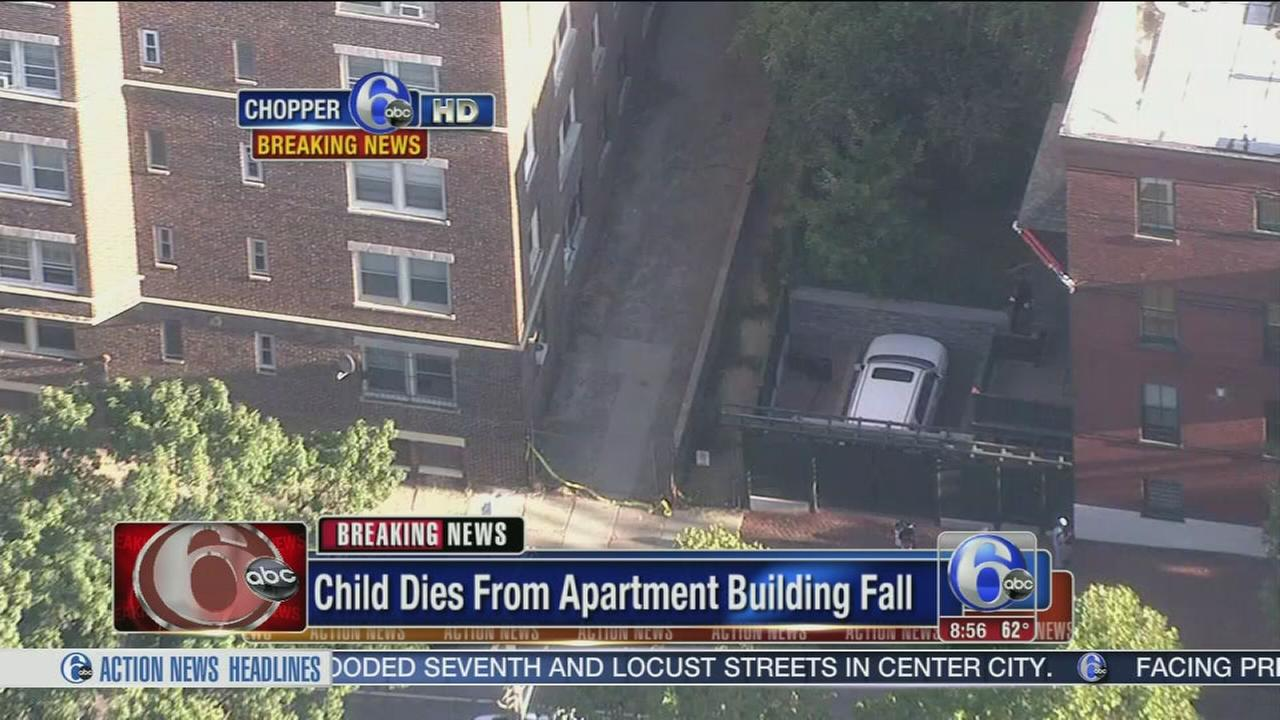 VIDEO: Girl, 8, dies after 9-story fall in West Philadelphia