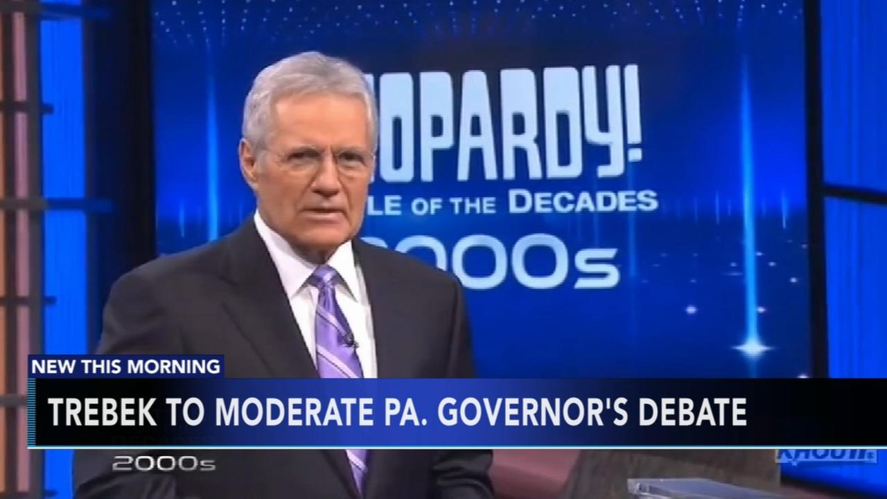 Alex Trebek to moderate Pa. governors debate