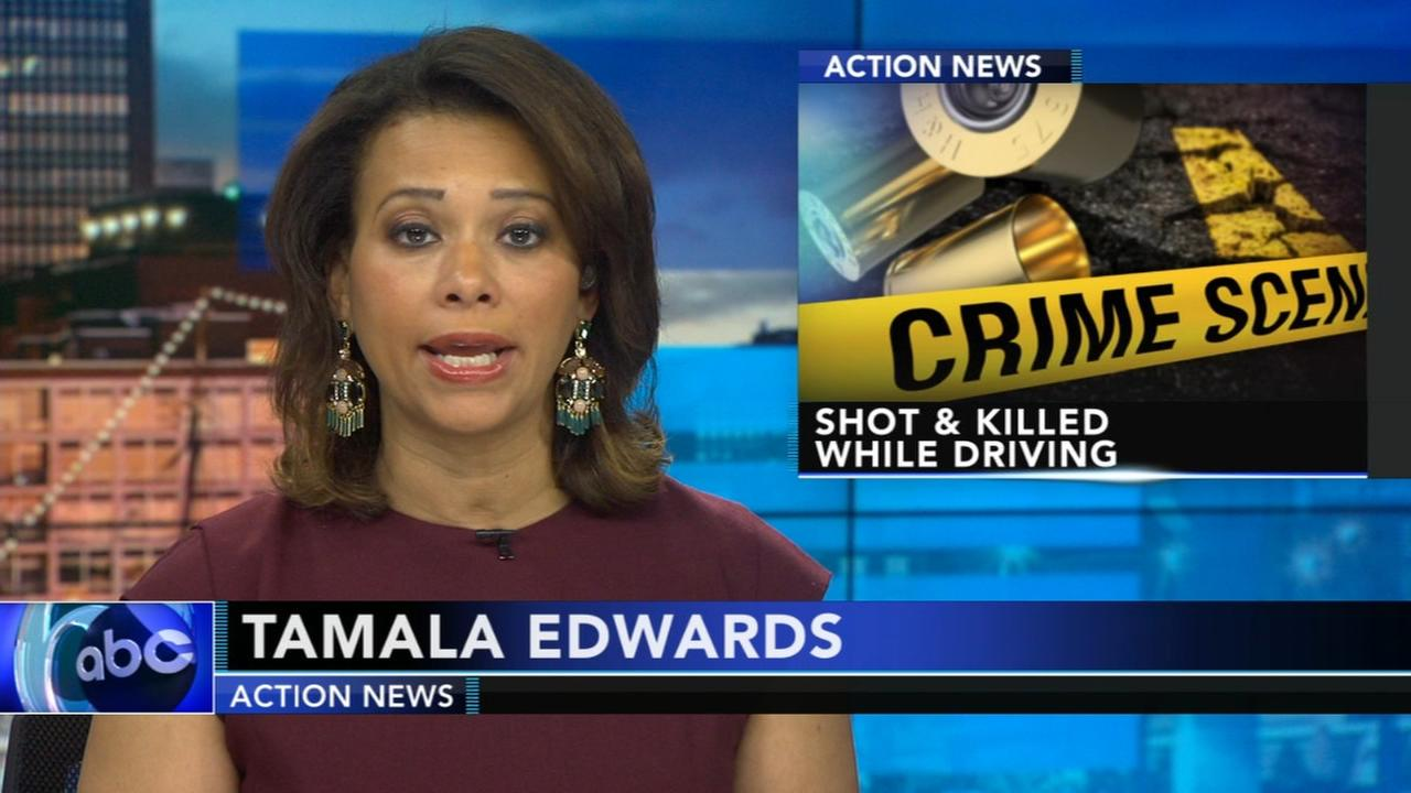 Woman shot and killed while driving