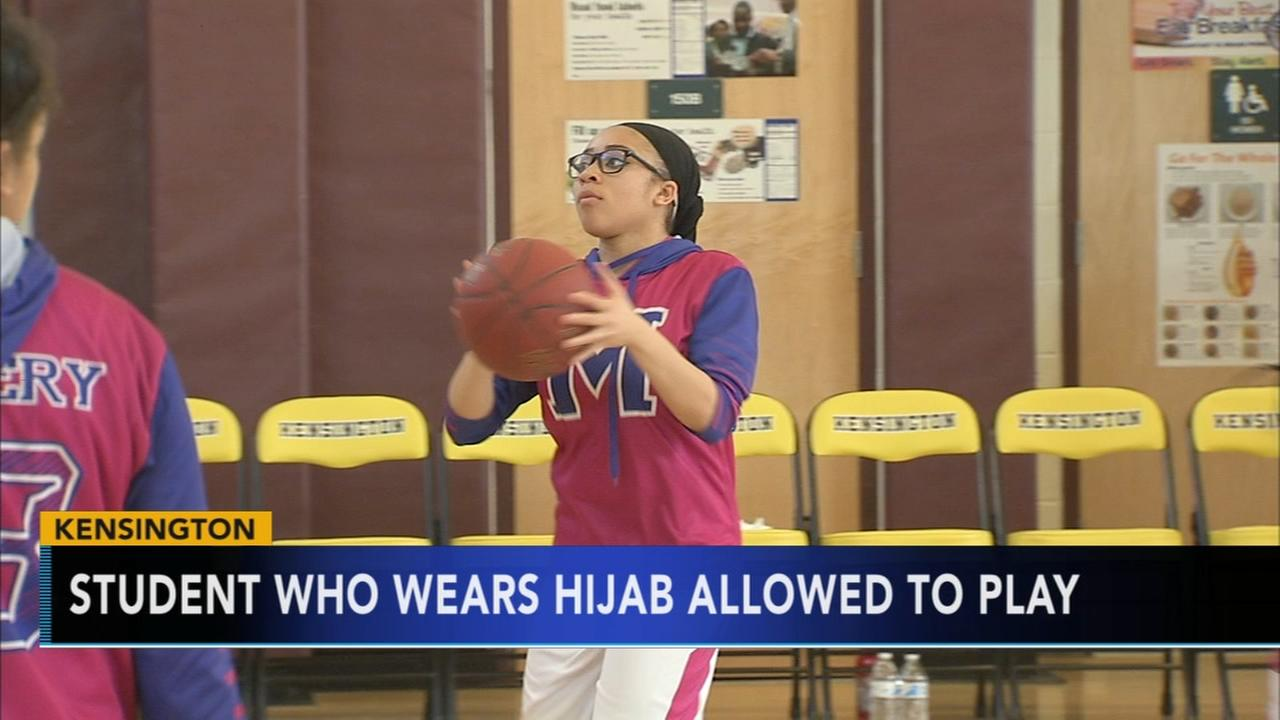 Philadelphia student allowed to play with hijab