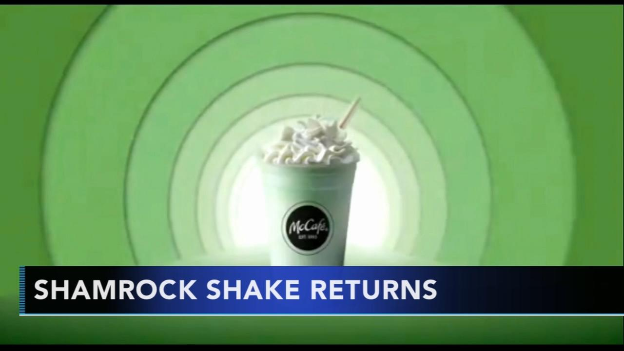 Shamrock Shake returns to McDonalds just in time for St. Patricks Day