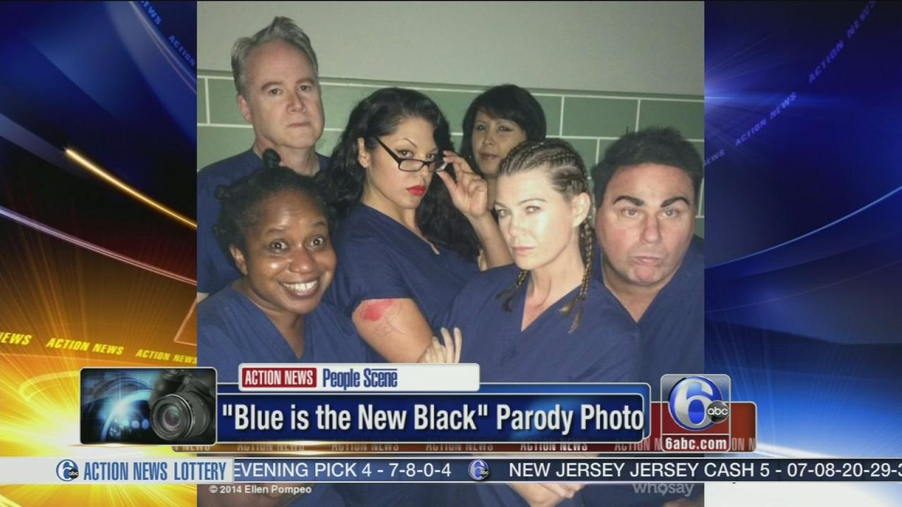 VIDEO: Greys Anatomy says blue is the new black