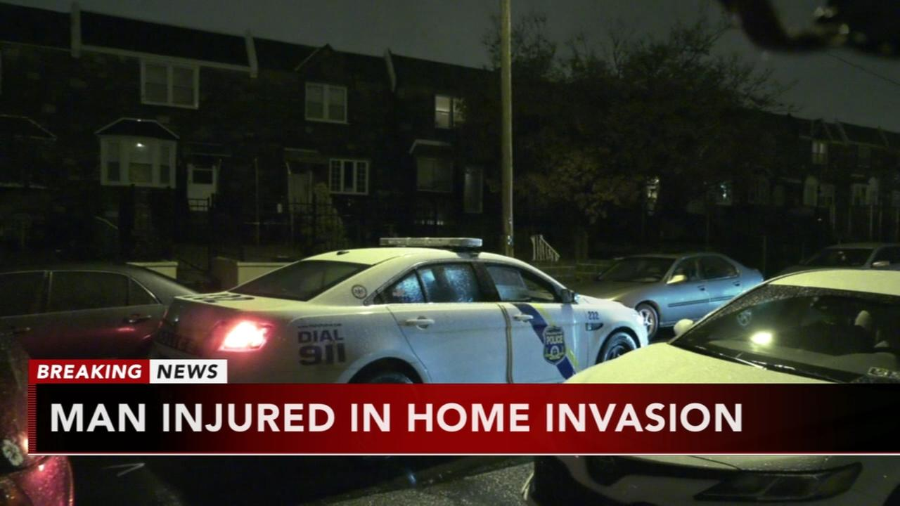 Man injured in home invasion