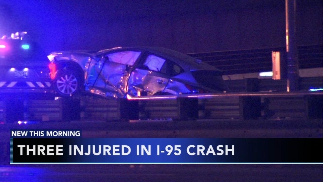 3 injured in I-95 crash