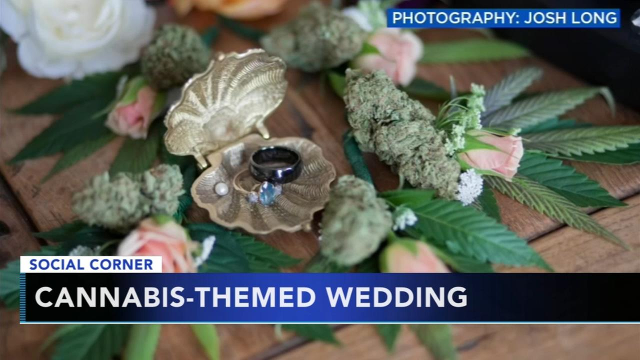 Couple hosts cannabis-themed wedding