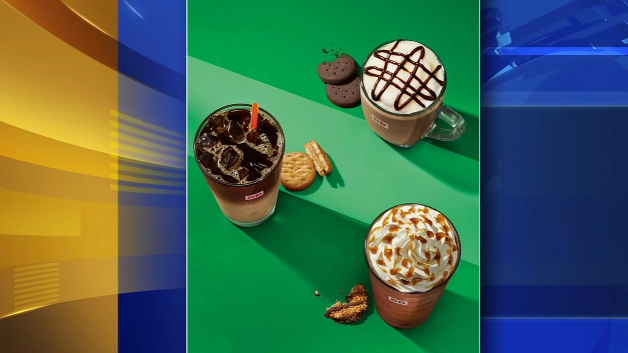 Dunkin Donut unveils Girl Scout cookie coffee