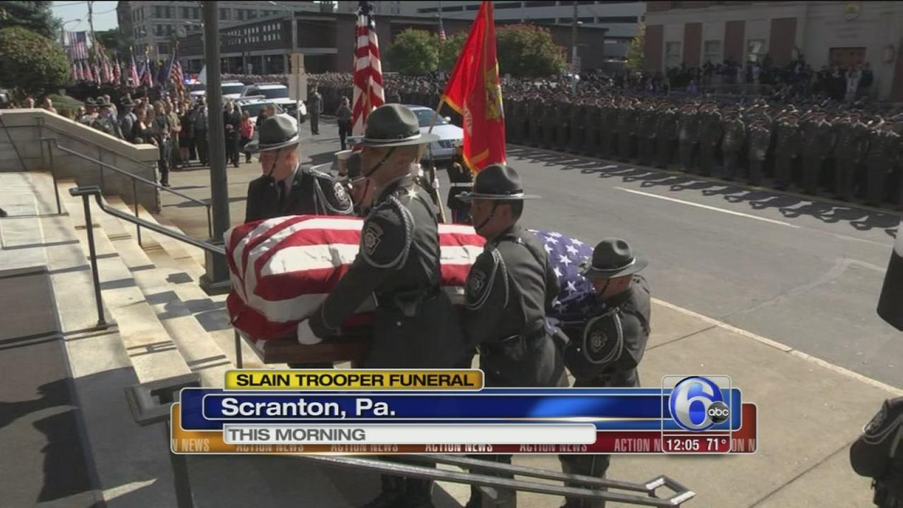 VIDEO: Funeral held for slain Pa. trooper