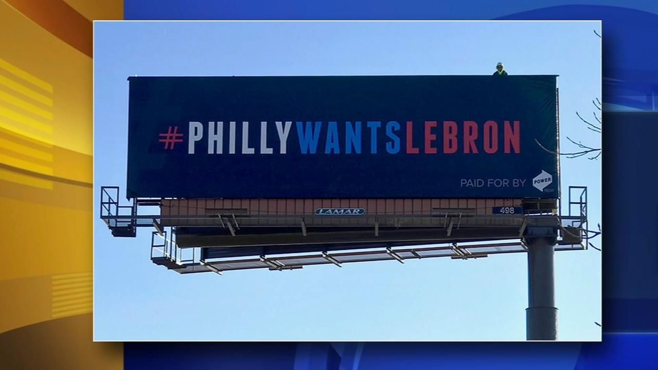 Three billboards in Cleveland seek to lure Lebron to Philly
