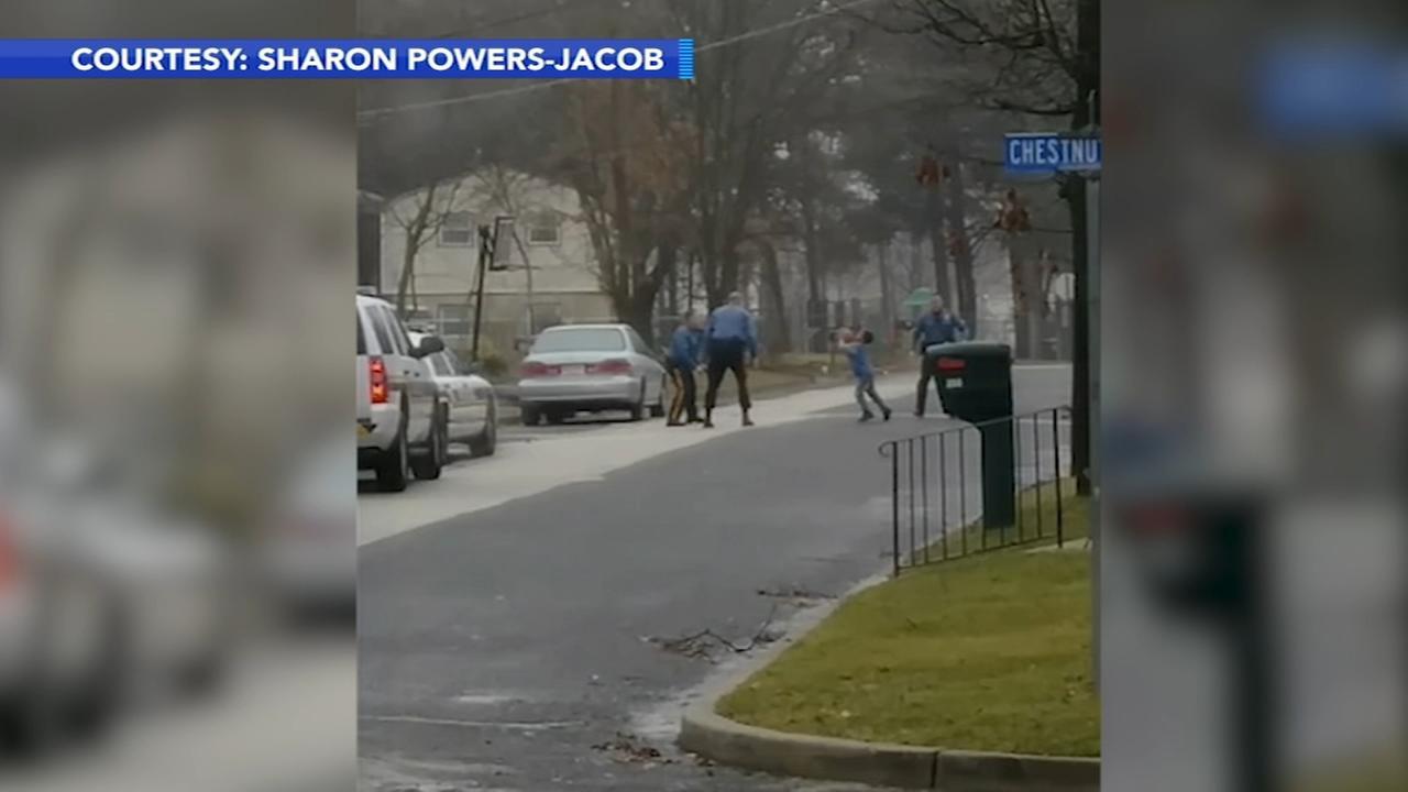 VIDEO: Cops shoot hoops with boy in Berlin Twp.