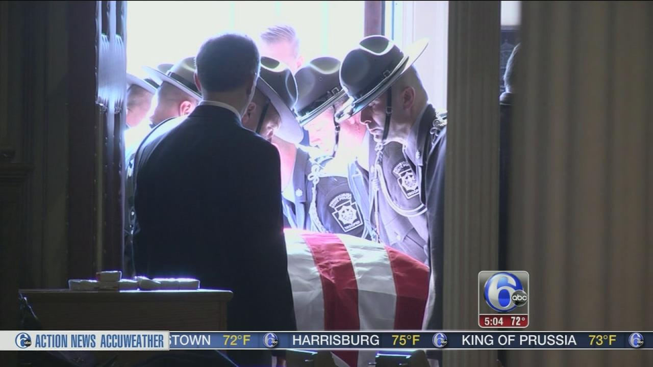 VIDEO: Funeral for state trooper