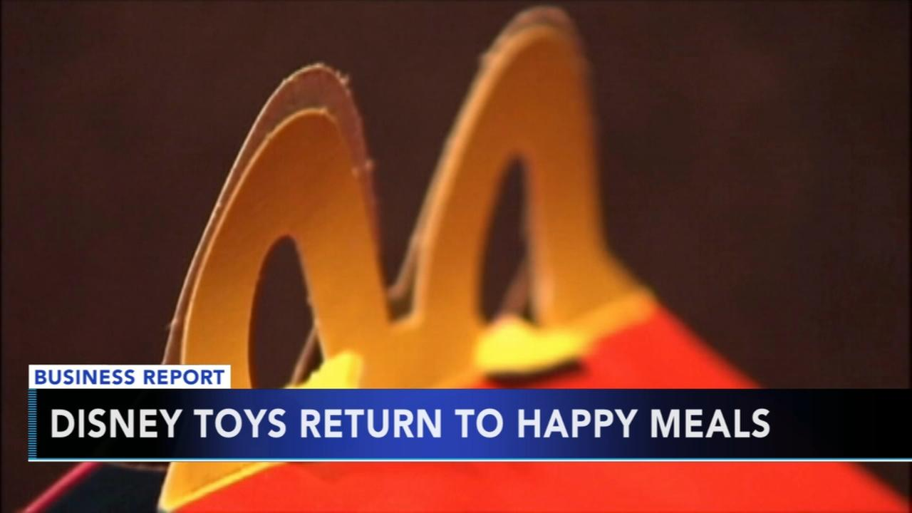 Disney toys return to Happy Meals