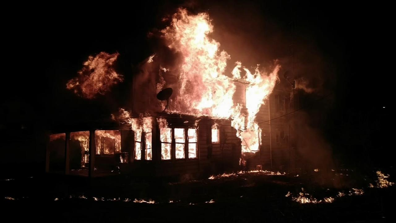 Fire destroys Lawrence Township home