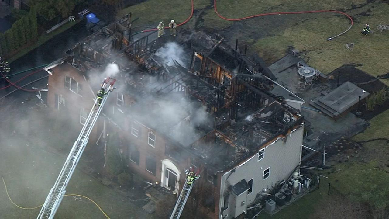 RAW VIDEO: House fire in Moorestown