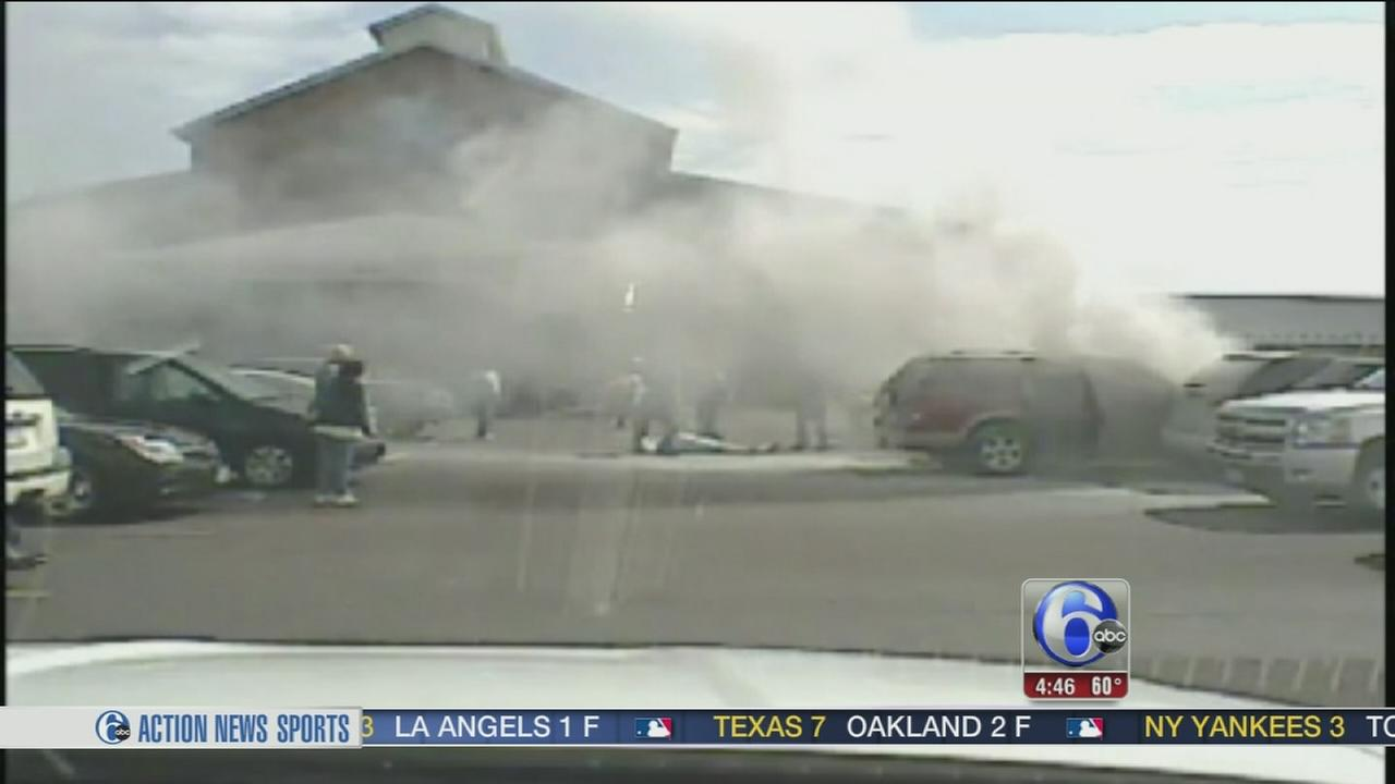 VIDEO: Officers save man in burning vehicle in Ohio