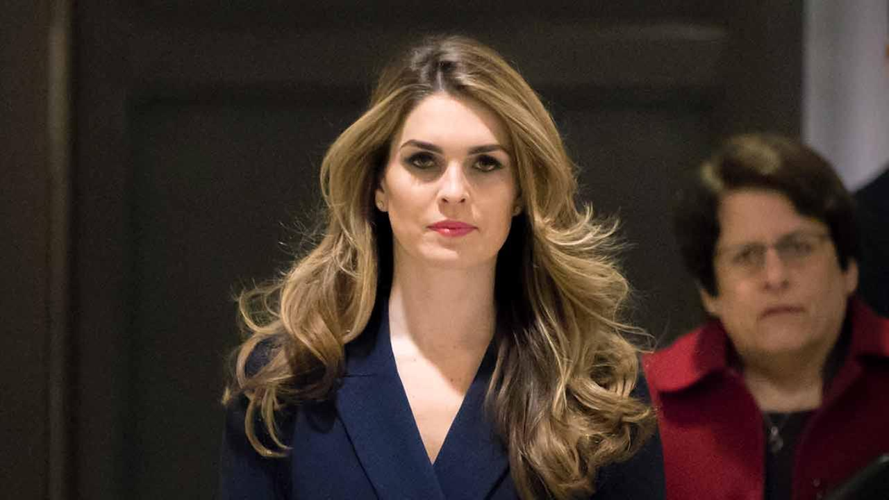 White House Communications Director Hope Hicks, one of President Trumps closest aides and advisers, arrives to meet behind closed doors with the House Intelligence Committee.