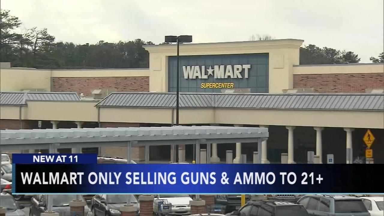 Walmart to restrict sales of guns and ammo