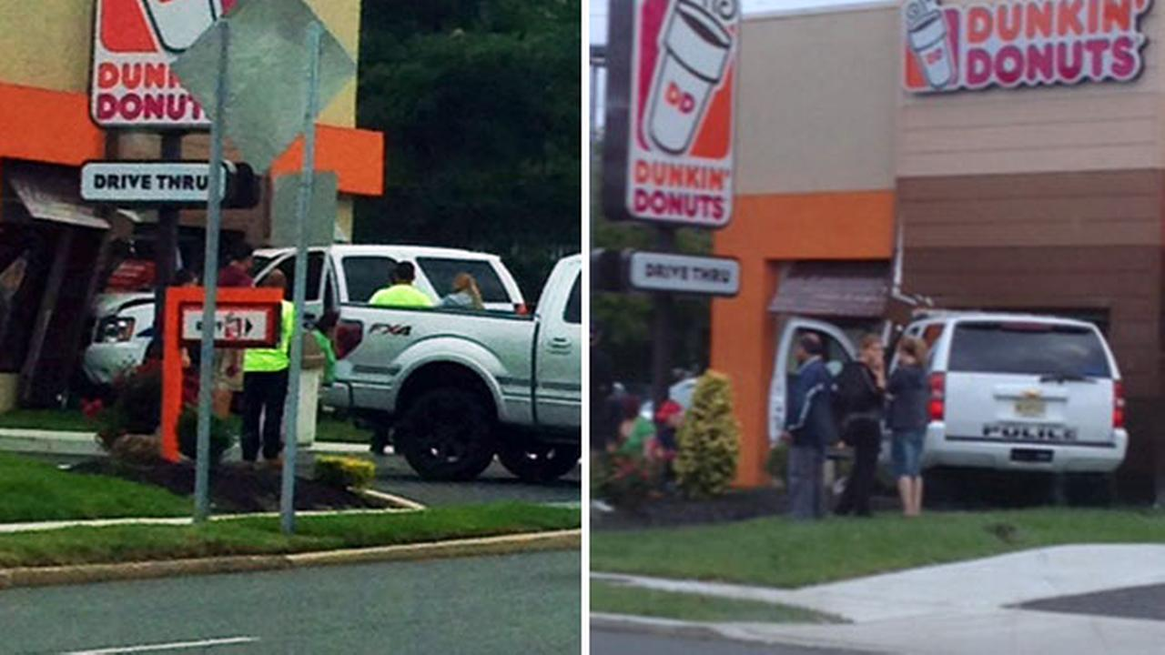 Police SUV slams into Dunkin Donuts in Berlin, N.J.